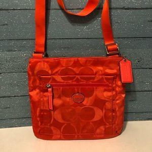 Coach nylon Getaway Signature file Crossbody Bag